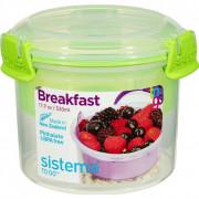 Snída?ový box Sistema Breakfast To Go 530ml világoszöld
