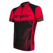 Pánský cyklistický dres Sensor Cyklo Team Up fekete/piros