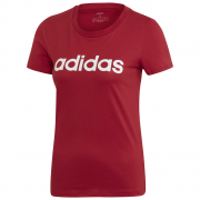 Női póló Adidas Essentials Linear Slim piros