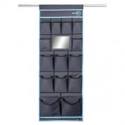 Organizér Bo-Camp Tent organizer 14 pockets Mirror 48x123cm fekete