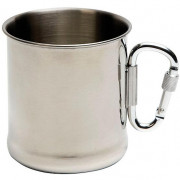 Bögre Bo-Trail Mug Stainless Steel karabinerrel