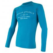 Férfi funkcionális póló Sensor Merino DF Label kék modrá