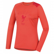 Női funkciós póló Husky Merino 100 h. ujjú Sheep rózsaszín