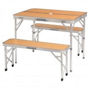 Kemping asztal-szék szett Camp Marle barna