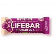 Energiaszelet Lifefood Organic Lifebar Protein Wild Berry RAW 47 g