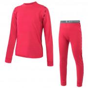 Gyerek funkciós ruha Sensor Merino Air Set póló+alsó rózsaszín magenta