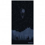 Gyorsan száradó törülköző Towee Backpacker 80x160 cm fekete/kék