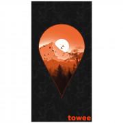 Gyorsan száradó törülköző Towee Next Destination 80x160 cm fekete/narancs