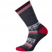 Női zokni Smartwool W Cozy Cabin Crew szürke/fekete charcoal heather