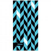 Gyorsan száradó törülköző Towee Dynamic 50x100 cm kék/fekete