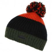 Gyerek téli sapka Regatta Davin Hat II zöld/narancs