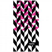 Gyorsan száradó törülköző Towee Dynamica 50x100 cm rózsaszín/fekete