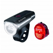 Kerékpátr lámpa szett Sigma Aura 60 USB + Nugget II.