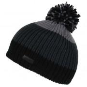 Gyerek téli sapka Regatta Davin Hat II fekete/szürke