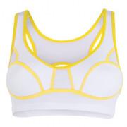 Melltartó Sensor Lissa fehér/sárga fehér bílá/žlutá