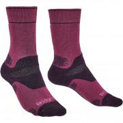 Női zokni Bridgedale Hike MW MP Boot lila berry/plum 352