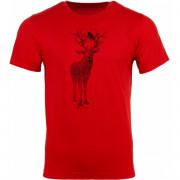 Férfi póló Alpine pro Daker - fekete piros