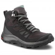 Női cipő Salomon Outline Mid GTX® W fekete/szürke Black/magnet/green milieu