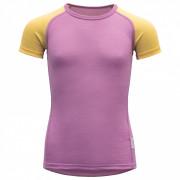 Dětské triko Devold Breeze Kid T-Shirt lila