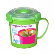 Bögre Sistema Microwave Medium Soup Mug zöld