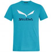 Férfi póló Salewa Solidlogo Dri-Rel M S/S Tee világoskék