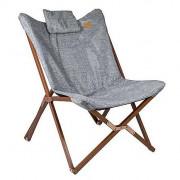 Kempingszék Bo-Camp Relax Chair Bloomsbury szürke