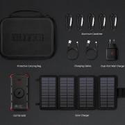 Set solární nabíječky a powerbanky Outxe W20 Outdoor Charger Kit fekete