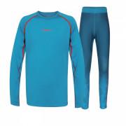 Gyerek thermo aláöltözet Husky Active Winter gyerek szett kék