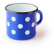 Csésze Zulu Kék bögre fehér pöttyökkel