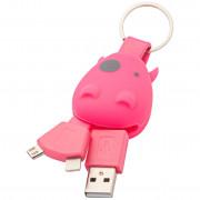 Munkees USB kulcstartó Smart Charger rózsaszín Pink