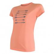 Női funkciós póló Sensor Coolmax Fresh nyilak r. ujjú narancs apricot