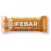 Energiaszelet Lifefood Organic Lifebar Protein Vanilla Nuts RAW 47 g