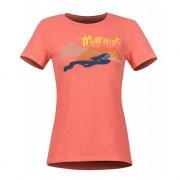 Női póló Marmot Wm's Esterel Tee SS piros