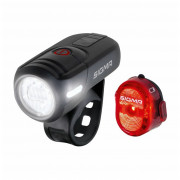Kerékpátr lámpa szett Sigma Aura 45 USB + Nugget II.
