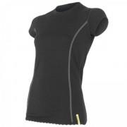 Női póló Sensor Merino Wool Active r. ujjú fekete černá