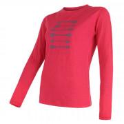 Női póló Sensor Merino Wool PT nyilak h. ujjú rózsaszín magenta