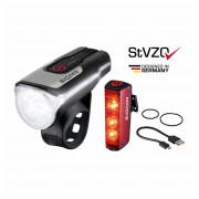 Kerékpátr lámpa szett Sigma Aura 80 USB + Blaze