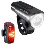 Kerékpátr lámpa szett Sigma Aura 60 USB + Infinity