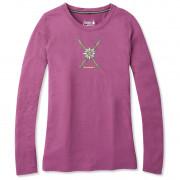 Női póló Smartwool W Merino Sport 150 Powder Flower Ls Tee rózsaszín