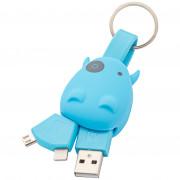 Munkees USB kulcstartó Smart Charger kék Blue