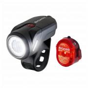 Kerékpátr lámpa szett Sigma Aura 35 USB + Nugget II.