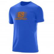 Férfi póló Salomon Blend Logo Ss Tee M kék Surf The Web