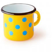 Csésze Zulu Sárga bögre kék pontokkal