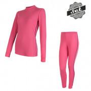 Női szett Sensor Original Active póló + alsó  rózsaszín