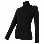Női funkciós póló Sensor Merino Extreme zip fekete