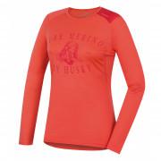 Női funkciós póló Husky Merino 100 h. ujjú Puppy rózsaszín
