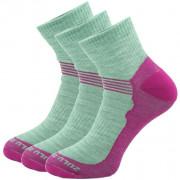 Zokni Zulu Merino Lite Women 3 pack rózsaszín