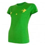 Női funkciós póló Sensor Merino Wool Swallow r. ujjú zöld zelená
