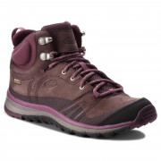 Női cipő Keen Terradora leather MID WP W sötétbarna PEPPERCORN/WINE TASTING