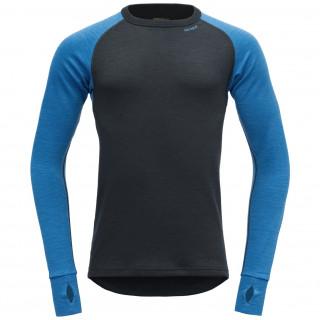 Férfi póló Devold Expedition shirt M fekete/kék